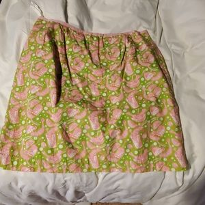 Lily Pulitzer shrimp cocktail skirt